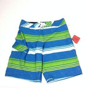 Mossimo Supply Co Men's Swim Board Shorts Striped
